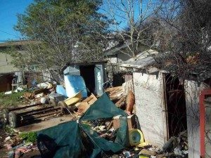 Trashed Back Yard