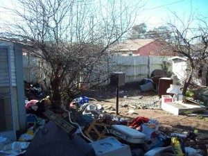 Trash in Back Yard